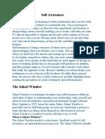 johari window experiment and discussion.docx