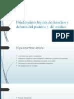Fundamentos legales de derechos y deberes del paciente