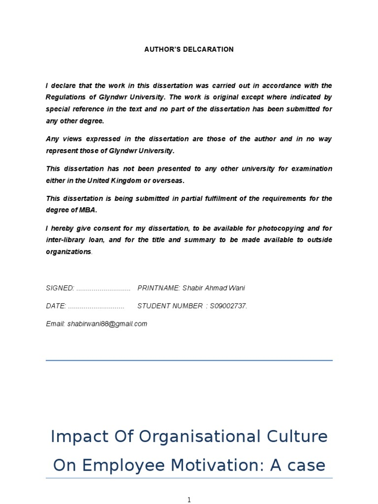 organisational culture and motivation Corporate culture is the amalgamation of values, vision, mission, and the  think , if employees are motivated and committed, how mimicry can build to create a.