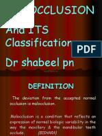 Malocclusion DR RAHIM