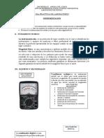PRACTICA DE LABORATORIO PARA FISICA II - INSTRUMENTACIÓN