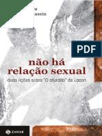 Não há relação sexual - duas lições sobre o aturdito - Badiou & Cassin