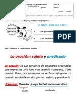 GUIA ESPAÑOL 4° EL SUJETO Y EL PREDICADO.2