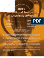 Diversity Journal | 2010 Innovations in Diversity Awards