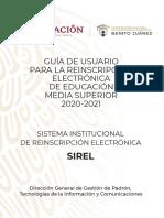 GUIA SIREL 2020 2021 - BECAS BENITO JUAREZ