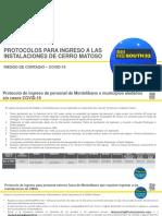 Protocolos de ingreso de personal a CMSA actualizado 26 julio 2020