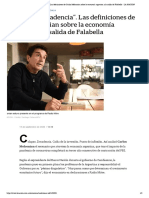 _Colapso y decadencia_. Las definiciones de Carlos Melconian sobre la economía argentina y la salida de Falabella - LA NACION