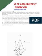 6.0 PRINCIPIO DE ARQUIMEDES Y FLOTACION
