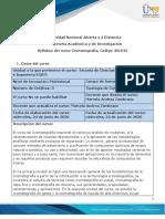 Syllabus del curso Cromatografía
