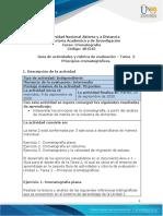 Guia de actividades y rúbrica de evaluación - Unidad 1 - Tarea 2 - Principios cromatográficos-2