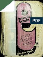 Brecht, Bertolt- Scrieri Despre Teatru