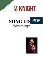September 2020 Repertoire