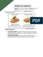 Exemples de capteurs et d'actionneurs