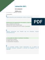 respuestas evaluacion aa1 - evaluacion y mejora del sgc
