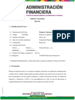 Unidad de Aprendizaje Finanzas Corporativas Fase I 2020-2