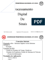 Processamento Digital de Sinais - Capitulo I e Historico