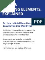 RHNA & Housing Elements, Explained