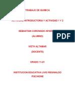 ACTIVIDAD DE QUIMICA DIAMANTES