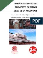 La Salud Puertas Adentro del Hospital de Pediatría de Mayor Complejidad de la Argentina