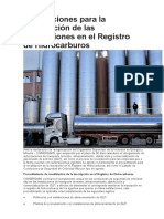 Disposiciones para la revalidación de las inscripciones en el Registro de Hidrocarburos