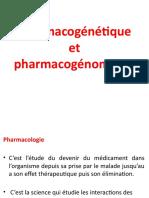 Cours 1 Pharmacogenetique et pharmacogenomique.pptx