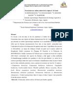 Bioécologie des Formicidae en milieu cultivé de la région d' El Oued