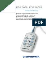 Manual generador Marcapasos  Biotronik iGA_EDP30