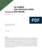 Advancing Human Civilization Through Open Source Software