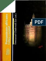 Chukwudi Eze, Emmanuel (Ed) - Pensamiento Africano. Filosofía
