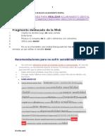RECOMENDACIONES PARA REALIZAR ACLARAMIENTO DENTAL