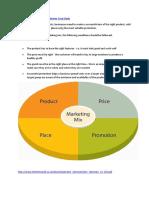The Marketing Mix elements - Ben Sherman Case Study