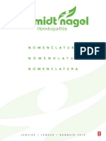 nomenclature homeopatica