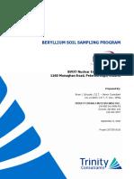 BWXT Peterborough 2020 Beryllium Surface Soil Sampling Report