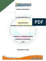 MODELO PEDAGOGICO SAN JORGE 1 Y 2  2018