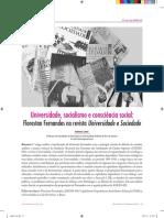 Leher, R. Universidade, socialismo e consciência social, Florestan Fernandes na revista Universidade e Sociedade