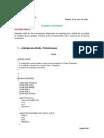 Actividad Detección de Bucle For de Java - Alfredo Avendaño Serrano