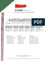 Pohamek (partitura)