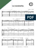 La-cucaracha - partitura y tablatura