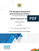 2019 Budget Statement and Economic Policy