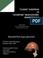 Classical vs Levantine Neanderthals SLIDES