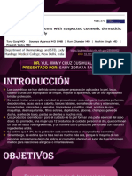 REVISIÓN DE ARTICULO - PRUEBA DE PARCHE EN PACIENTES CON SOSPECHA DE DERMATITIS COSMÉTICA