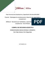 Ejemplo de SD de Matemática y Naturales