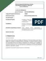 GUIA DE APRENDIZAJE No. 4 RESOLUCION DE CONFLICTOS