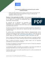 Protocolos para vuelos internacionales