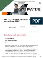 Procter & Gamble _ P&G CEO Challenge 2019-2020_ Estudio de Caso en Línea (PERÚ)