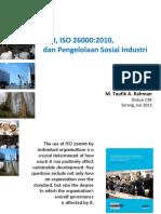 CSR, ISO 26000 dan Pengelolaan Sosial Industri di Indonesia