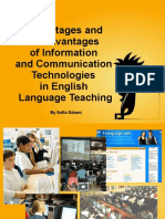 1. PPT - Advantages and Disadvantages of Information and Communication Technologies in English Language Teaching