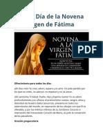 Quinto Día de la Novena a la Virgen de Fátima