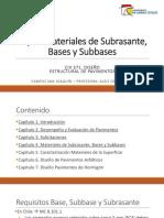 CIV 371-DEP C16 Cap4. Especificaciones Bases y Subbases