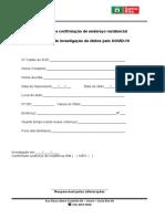 Ficha do COMITÊ DE INVESTIGAÇÃO DE ÓBITOS